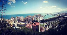 #Málaga vista desde #Gibralfaro. / #Malaga view from Gibralfaro. #Andalucía #España #Spain #visitmalaga #visitandalucia #visitspain