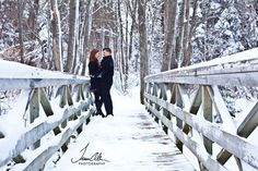 Fabulous Wedding Photography Secrets And Ideas - Engagement Photos Engagement Session – Couple on Snowy Bridge - Winter Engagement Pictures, Engagement Couple, Engagement Shoots, Engagement Photography, Wedding Pictures, Wedding Photography, Christmas Engagement Photos, Country Engagement, Fall Engagement