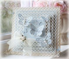 Uses Martha Stewart String Lace Border Punch for the edges