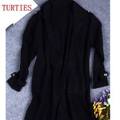 knit Thick Long Loose Sweater Wool Cardigan