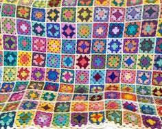 Crochet afghan crochet blanket handmade blanket granny square | Etsy