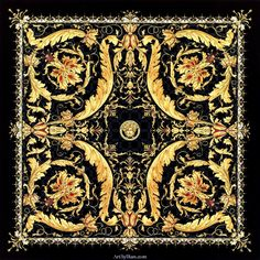 Ilian Rachov for Versace. Versace by Ilian Rachov. Created in Inspired from the famous Gianni Versace Vanitas design. Donatella Versace, Gianni Versace, Versace Versace, Baroque, Rococo, Versace Pattern, Versace Wallpaper, Versace Scarf, Vintage Versace