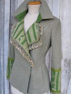 New Diy Crafts : Indalia Fashion - Asian and Italian fabrics combined with Italian tailoring Diy Clothing, Sewing Clothes, Altered Couture, Moda Vintage, Altering Clothes, Mode Inspiration, Diy Fashion, Fashion Clothes, Blazers