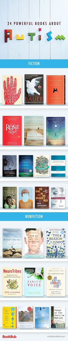 24 books to read about autism. Including nonfiction memoirs, fiction, and other powerful books about autism.