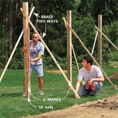 Building a fence and gate