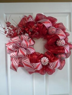 Christmas wreath (would also look nice with burlap as the background material)