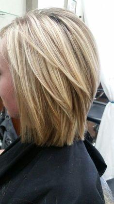 Choppy Bob Hairstyles, Bob Hairstyles For Fine Hair, Summer Hairstyles, Layered Hairstyles, Easy Hairstyles, Short Thin Hairstyles, Short Highlighted Hairstyles, Medium Layered Haircuts, Hairstyles 2016