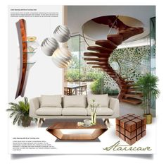 """""""Staircase"""" by nyrvelli ❤ liked on Polyvore featuring interior, interiors, interior design, hogar, home decor, interior decorating, Richard Judd, Nearly Natural, De La Espada y Swedese"""