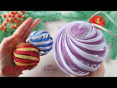 🔮 Big spiral ball 🔮 of foamiran! DIY Christmas decor 🔮 Big spiral ball 🔮 of foamiran! Foam Christmas Ornaments, Candy Land Christmas, Quilted Ornaments, Christmas Origami, Handmade Christmas, Christmas Crafts, Christmas Tree, Foam Crafts, Diy Arts And Crafts