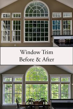 Window trim has a big impact on the overall look of a home. This detailed DIY tutorial will help you with this project in a few simple steps. New Home Windows, House Windows, Black Window Trims, Diy Crown Molding, Farmhouse Trim, Interior Window Trim, Baseboard Trim, House Front Design, Moldings And Trim