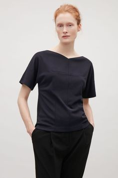 COS image 2 of Top with dart details in Navy