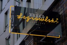 The Big Legrowlski Growlers - Fonts In Use. - a grouped images picture - Pin Them All Shop Signage, Wayfinding Signage, Signage Design, Environmental Graphic Design, Environmental Graphics, Sign Board Design, Exterior Signage, Outdoor Signage, Luminaire Design