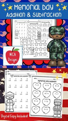 This product features various worksheets and activities to help your students practice their basic addition and subtraction facts through 20. Each worksheet is accented with various patriotic themed graphics! This product includes both a print and DIGITAL copy. The digital copy is great for DISTANCE LEARNING! #teacherspayteachers #tpt Addition And Subtraction Practice, Mathematics Games, 2nd Grade Activities, Constitution Day, Education Center, Elementary Education, Math Workshop, Holiday Activities, Math Resources