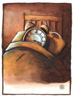 Selçuk Demirel Web sitesi » Galerie de Dessins.  Deja descansar al reloj y deja el tiempo pasar...