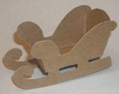 "4"" Cardboard Sleigh"
