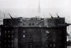 12.8 cm anti aircraft Flak tower defences,
