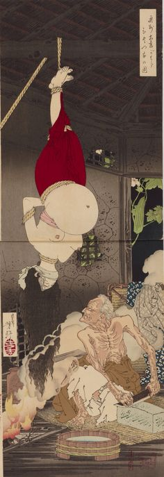 Mugenic painting refers to a series of Ukiyo-e prints depicting bloody scenes produced from the end of the Tokugawa period to the beginning of the Meiji era, against the unsettling period in that period.