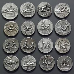 Spintriae erotic Roman tokens 16 pcs set of tin by antiquanova
