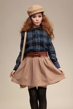 #merlowavenue.com         #Skirt                    #Sweet #Japanese #Style #Blue #Check #Shirt #Belted #Solid #Pleated #Woolen #Skirt #Dress               Sweet Japanese Style Blue Check Shirt Belted Solid Pleated Woolen Skirt Dress                           http://www.seapai.com/product.aspx?PID=1056061