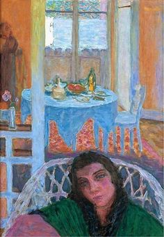 Pierre Bonnard, Interior with a Woman in a Wicker Chair, 1920
