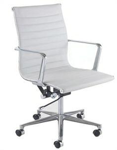 Spirit Designer Swivel Chair White Desk Office Study Home Adjule