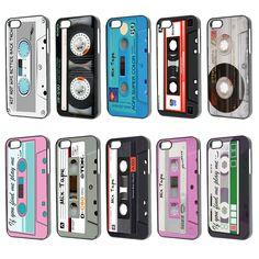 Fun 80s Retro Cassette Mix Tape Phone Case Cover iPhone 4 4s 5 5s iPod 4 5 iPad