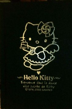 Sanrio Hello Kitty Hard Cover Notebook Navy Collectible Vintage 1976-2003 New