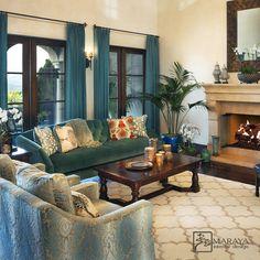 Spanish Mansion, Spanish Interior, Limestone Fireplace, Mediterranean Design, Vogue Living, Spanish Style, Elle Decor, Great Rooms, Luxury Homes