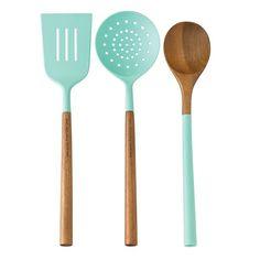 turquoise kitchen utentsils