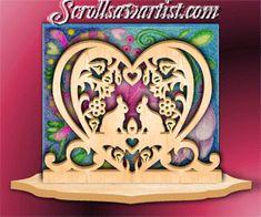 Wood Bunnies & hearts serviette holder