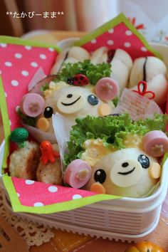 Bear sandwich bento  (too cute to eat, my daughter would say)