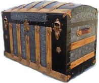 These old trunks can be restored to their amazing beauty and used for various reasons in the house..