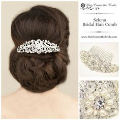 Glamorous Rhinestone &  Pearl Bridal Hair Comb by Hair Comes the Bride - Bridal Hair Accessories & Jewelry - www.HairComestheBride.com