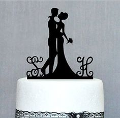 Bride and Groom Cake Topper - Acrylic Silhouette Wedding Cake Topper - Custom Personalized Monogram Name Wedding Design sweethome http://www.amazon.com/dp/B00MPBMX3O/ref=cm_sw_r_pi_dp_Vtpdxb0EY7JHD