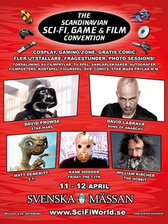 Sci-Fi mässan Göteborg 11 - 12 april!    http://www.filmparadiset.se/blog/2015/01/07/sci-fi-massan-i-goteborg-11-12-april-2015/