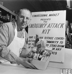 1951, USA: In case of nuclear attack, stock up on Campbells soup
