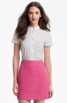 kate spade new york 'helen' top Love the scalloped sleeves and collar!