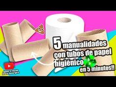 MANUALIDADES RECICLAJE|5 MANUALIDADES CON TUBOS DE PAPEL HIGIÉNICO EN 5 MINUTOS - YouTube