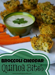 broccoli cheddar quinoa bites- for when she is a little older