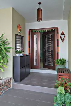 Home Discover 52 Ideas Front Door Design Ideas Indian Pooja Room Door Design, Main Door Design, House Front Design, Home Room Design, Modern House Design, Indian Home Design, Indian Home Interior, Indian Interiors, Room Interior