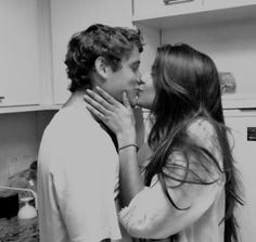 Kisses in the kitchen