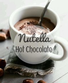 There's no betterway to chase away the chill than by sipping a mug ofNutella Hot Chocolate. So today I'm sharing with you how to make this easy and delicious hot chocolate using only 2 ingredient...
