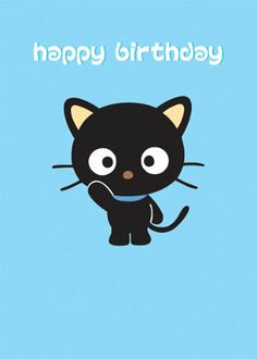 Chococat, Happy Birthday Greetings Card