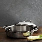 All-Clad Stainless Steel 4 Quart Sauteuse with Lid