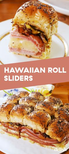 Hawaiian Roll Sliders Hawaiian Roll Sliders Won't Last 5 Minutes In Your HouseDelish Hawaiian Roll Sandwiches, Hawaiian Roll Sliders, Rolled Sandwiches, Appetizer Sandwiches, Hawaiian Rolls, Appetizer Recipes, Steak Sandwiches, Sandwiches For Dinner, Fun Appetizers
