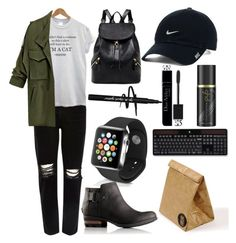"""""""#19"""" by food-iv ❤ liked on Polyvore featuring River Island, Apple, SOREL, NIKE, Christian Dior, GHD, Logitech and Luckies"""