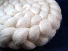Natural Falkland Wool Roving -- 4 oz..