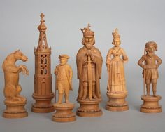 """""""Charlemagne"""" Pearwood Part Chess Set"""