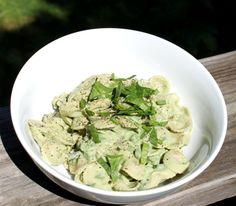 Creamy Spinach Bow Tie Pasta Salad {Vegan} - By JL Fields - From JL Goes Vegan