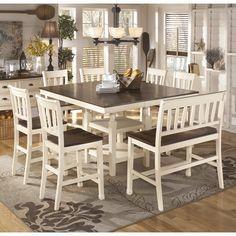 Signature Design Whitesburg D583 6 pc Counter Height Dining Set
